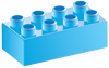 light-blue building block